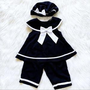 rare too toddler 3-piece sailor set